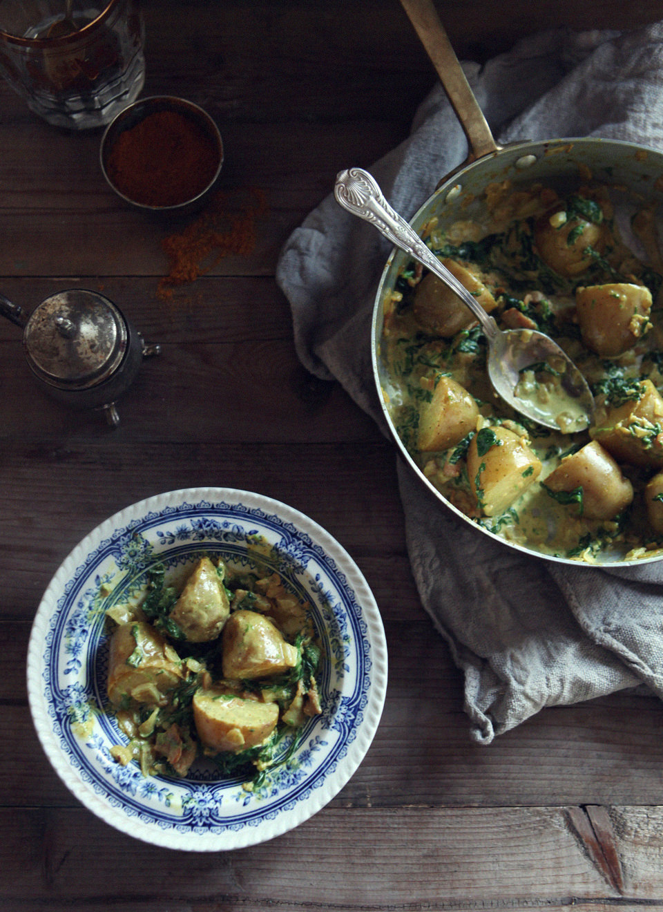 Potato-&-Spinach-with-Curry-Cream-Sauce-2